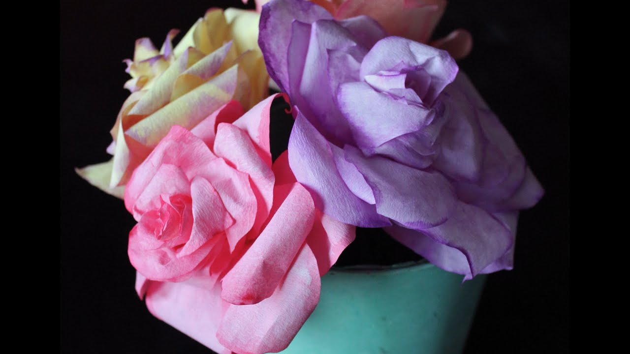 diy coffee filter roses  free template