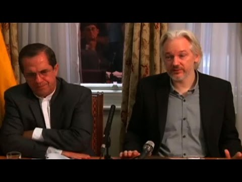 Assange says will leave London embassy 'soon'