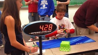 fastest rubik's cube solve ever...