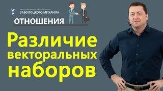 Различие векторальных наборов(специалист, менеджер, предприниматель)