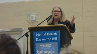 2018 Mental Health Day On Hill: Sue Abderholden(NAMI-MN)_Parity in Health Insurance-  Viv Video Clip