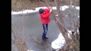 Подборка:Падение на льду №1