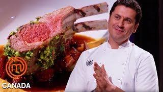 Claudio Aprile Cooks A Lamb Dish Alongside The Chefs   MasterChef Canada   MasterChef World