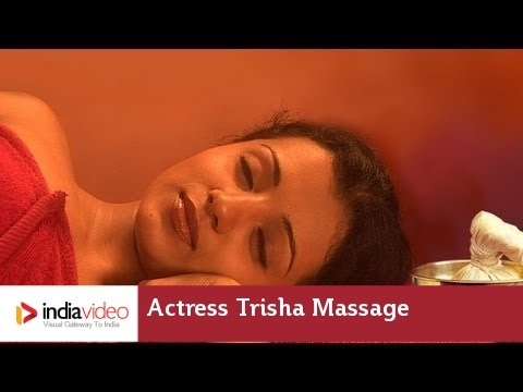 Massage Video Of Film Actress Trisha, One Of Her Earliest Work video