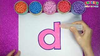 How To Draw d Lowercase And A Duck   English Color Kids