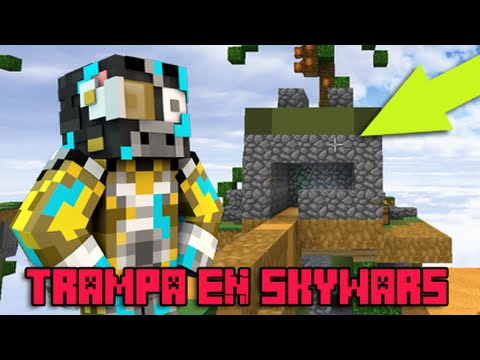TRAMPA MINECRAFT TUTORIAL CASA TROLL 2 EN SKYWARS