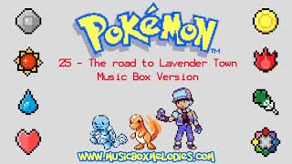 The road to Lavender Town (Music box version) - Pokemon red/blue OST
