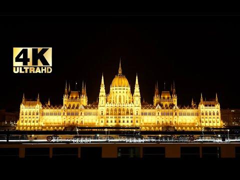4K VIDEO Ultra HD Szilveszter 2019.12.31 Budapest Parlament Hősök tere
