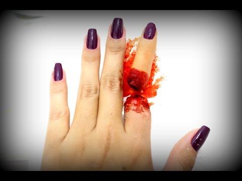 Maquiagem Artística - Dedo Arrancado (Dedo Falso)