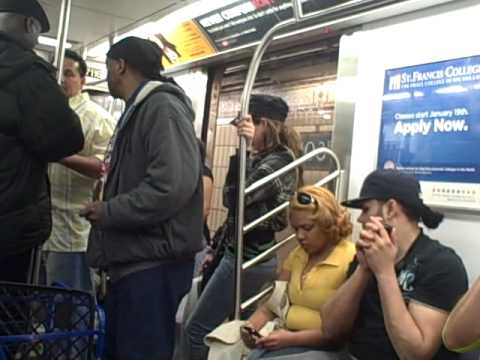 Pot Head Comedy Show live in the NYC Subway!!