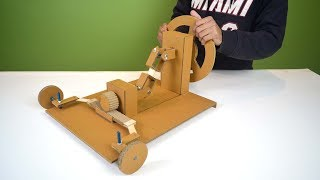 ultimate science project / making completely working cardboard steering mechanism of a car