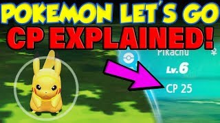 Pokemon Let's Go CP EXPLAINED! (Pokemon Let's Go Gameplay Demo)