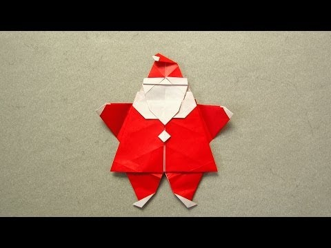 Christmas Origami Instructions: Santa (Peter Engel)