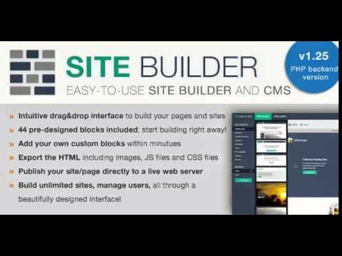 SiteBuilder Lite - Drag&Drop site builder and CMS