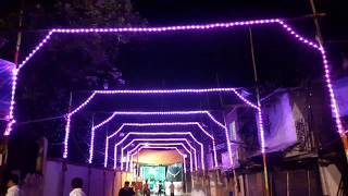 Mankhurd village Navratri pixel light ceiling video