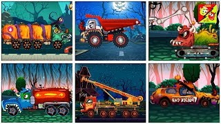 Learning Street Vehicles Name And Sound l Monster Truck Video l Good Vs Evil Cartoon Video