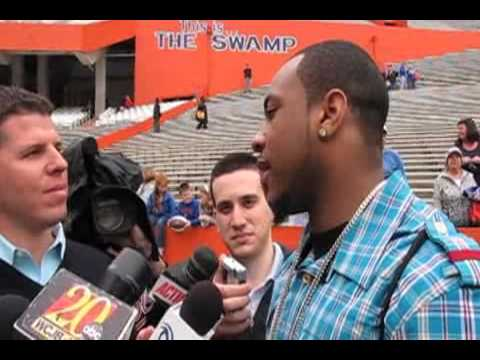 Percy Harvin talks of Tebow and Favre Video