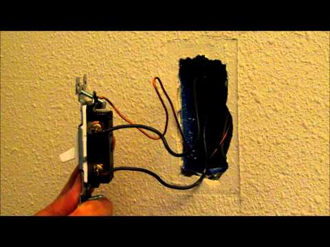 Video: How to easily replace or change a light switch