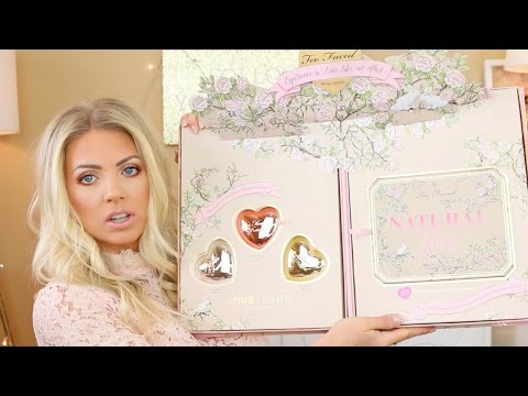 Too Faced Natural Love & Love Lights Prismatic Highlighters   Swatches. Review & Demo