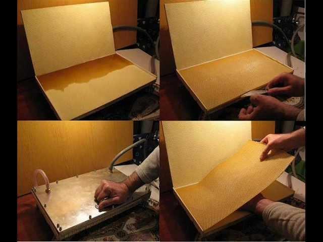 Как изготовить вощину своими руками