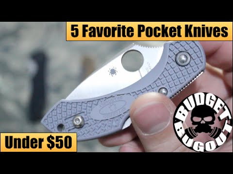 My Top 5 Best Pocket Knives [Under $50] | Budget-friendly EDC [Everyday Carry] Folding Knives