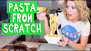 HOMEMADE PASTA FROM SCRATCH // Grace Helbig