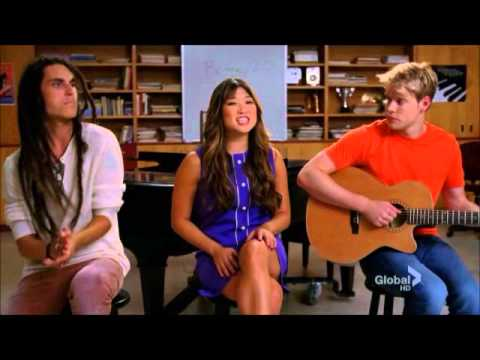 Glee cast laugh