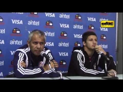 Víctor Genes y Danilo Santacruz en conferencia de prensa - Post partido Brasil 2 - Paraguay 0