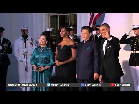 Xi arrival at White House state dinner