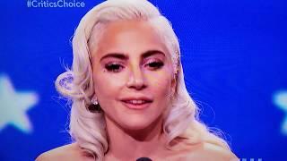 Lady Gaga 39 S Critic 39 S Choice Awards Inspiring Acceptance Speech