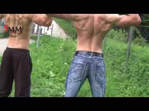 www.slovakmusclemen.com- super model Dominik with friends Video