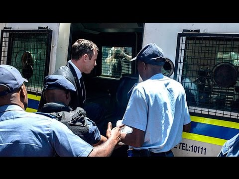 Oscar Pistorius taken away in prison van following sentence