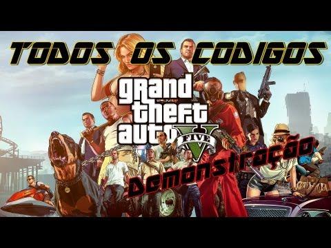 GTA V - Todos dos Cheats / Códigos do jogo ! [Demonstração]