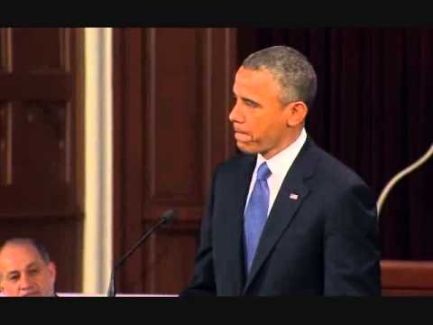 Boston Memorial Service: Governor Patrick & President Obama