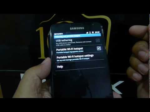 Using Tethering on Samsung Galaxy Note
