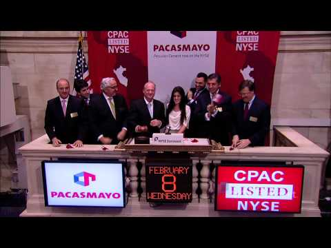 Peru's Cementos Pacasmayo lists IPO on the NYSE and rings the NYSE Closing Bell
