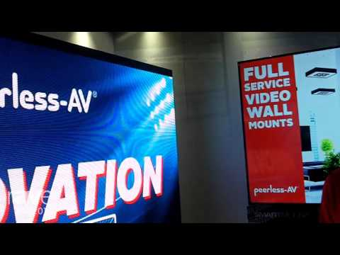 ISE 2016: Peerless-AV Features a Full Service LED Video Wall Mount