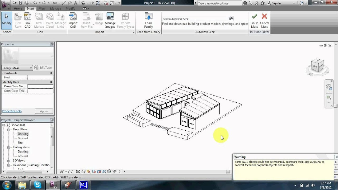 Sketchup to revit fast youtube for Sketchup import
