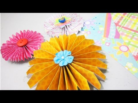 How to make simple paper rosettes