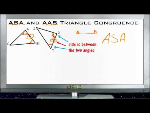 ASA and AAS Triangle Congruence Principles - Basic