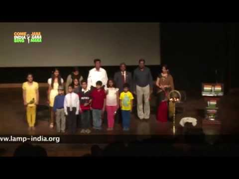 Group Singing Of The National Anthem Of India – Jana Gana Mana – In Around 52 Seconds video