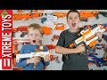 Million Subscriber Madness! Day in the Life of Ethan and Cole. Sneak Attack Squad Nerf Battle!