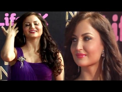 Elli Avram Cute Hindi Interview - Life OK Now Awards 2014 - Red Carpet