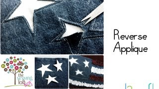 How to Stitch Reverse Applique Stars by Heather Valentine