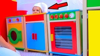 DIY Детский ДоМик РЕСТОРАН с игровой кухней или Pretend Play in DIY Playhouse for children