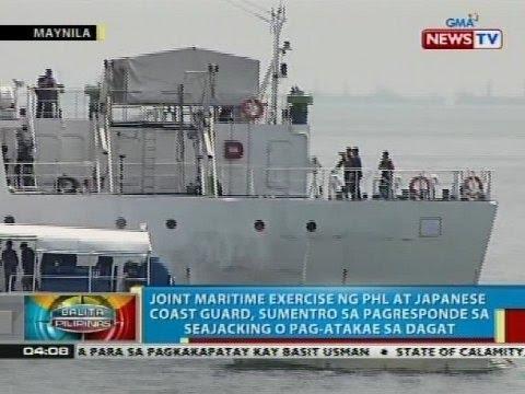 Joint Maritime Exercise ng Phl at Japanese Coast Guard, sumentro sa pagresponde sa seajacking