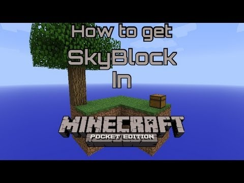 How To Get SkyBlock in MCPE