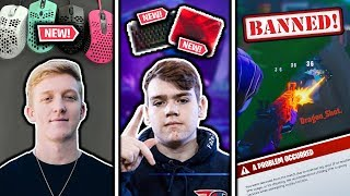 Tfue's NEW Mouse, Mongraal's NEW Keyboard/MousePad & Epic Games BAN Aim Assist Exploit!