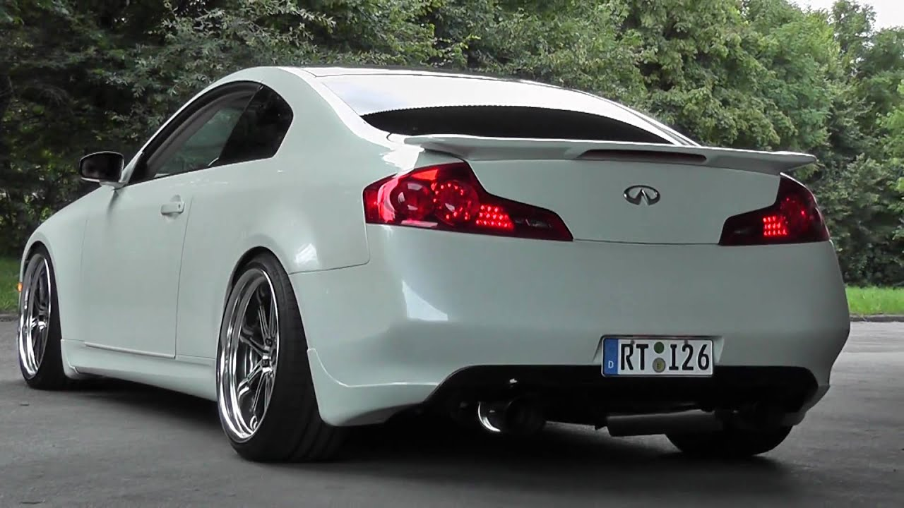 Infinityi G35 HKS Exhaust Work Wheels - YouTube