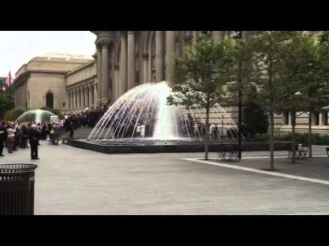 Metropolitan Museum of Art Fountain Opening via Delta Fountains